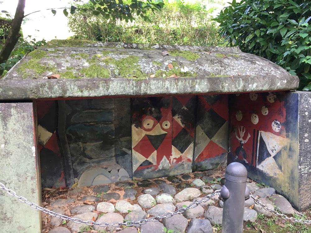 チブサン古墳の壁画の模型