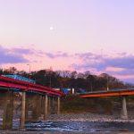 犬飼久原でバス待ち~大野川と歴史ある橋と町並みを歩く(大分県豊後大野市)