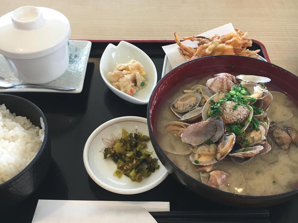 道の駅不知火・しらぬひ亭の貝汁定食