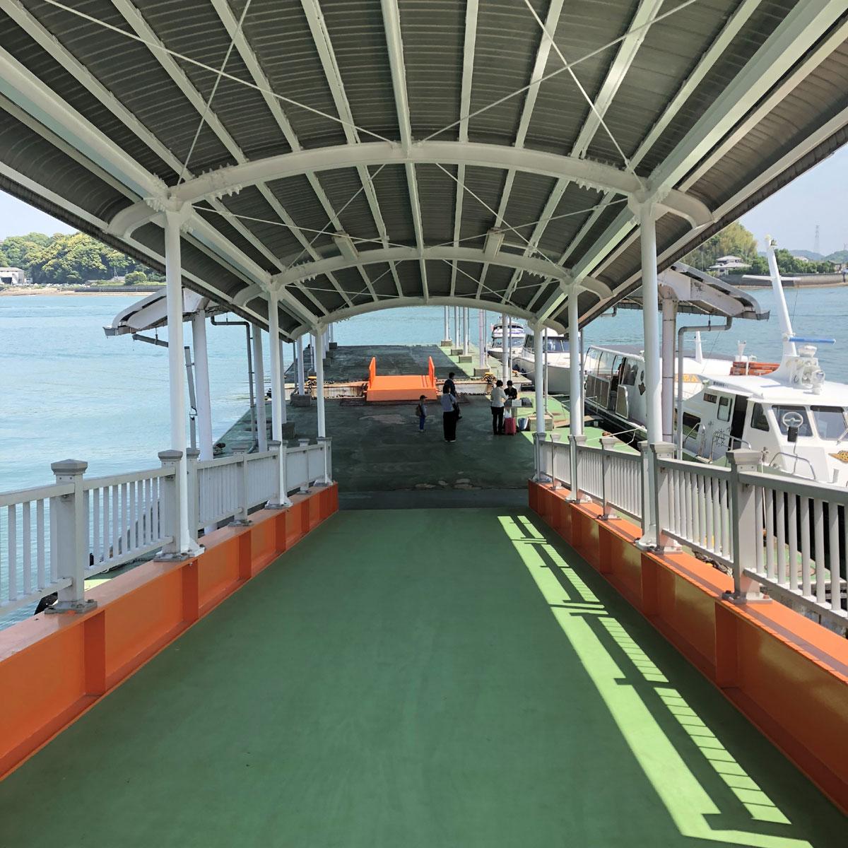 天草宝島ライン乗船口へ