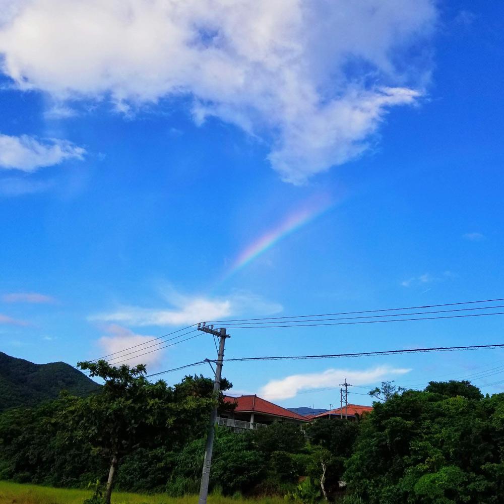 石垣島で見る虹