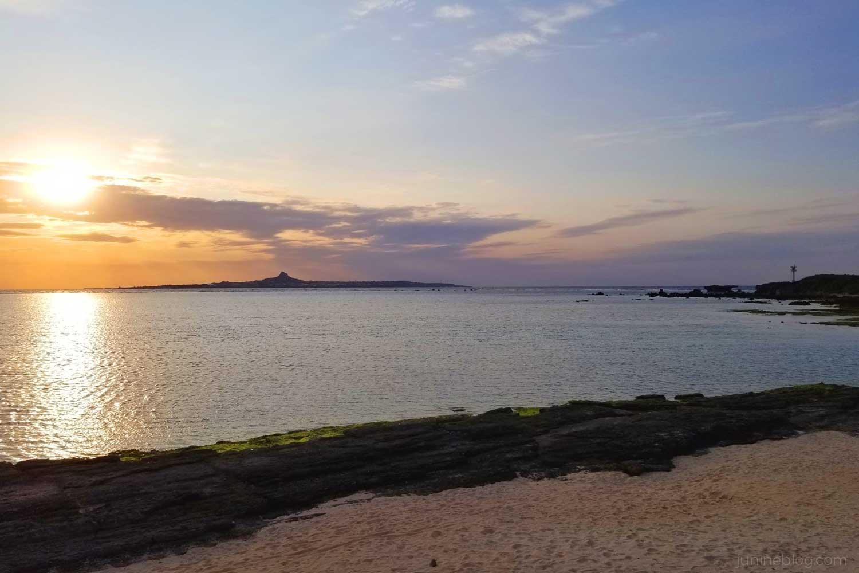 備瀬崎から見る夕焼け