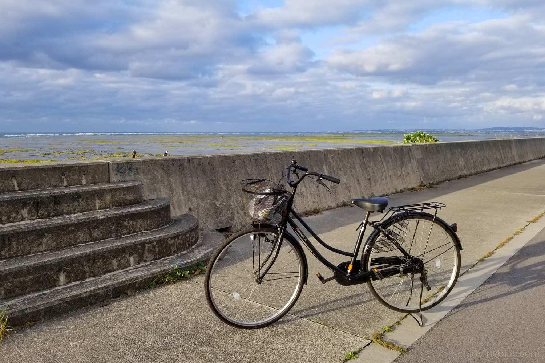 レンタル自転車と海