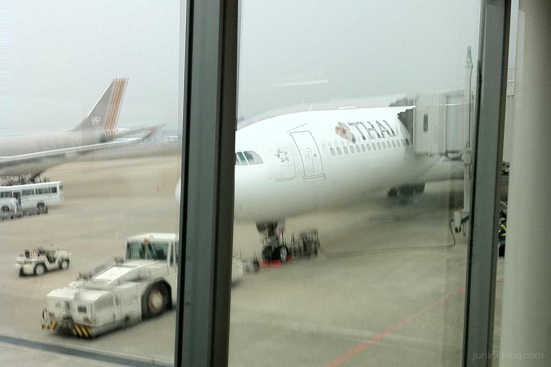 福岡空港からタイ航空で出発