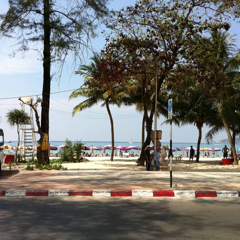パトンビーチ(道路側からの風景)