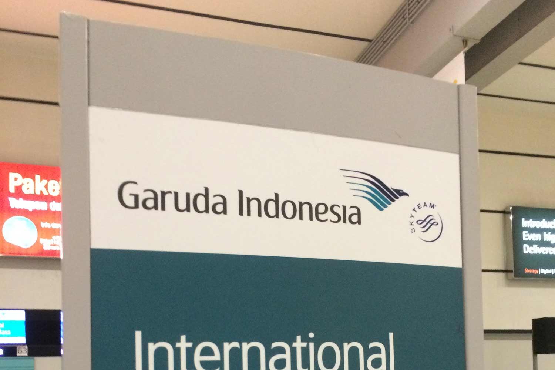 ガルーダ・インドネシアのチェックインカウンター