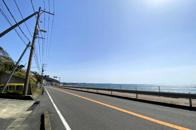 横須賀市の西海岸通り