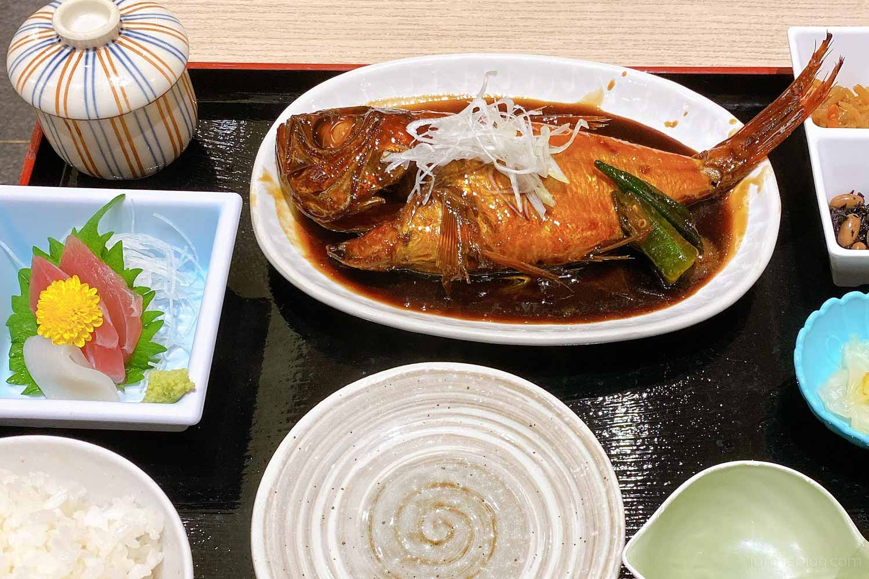 ばんばん食堂・金目鯛姿煮定食