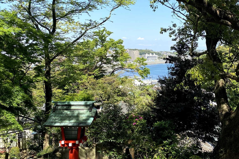 江島神社石段からの景色