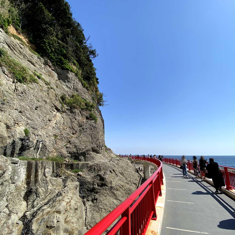 江の島岩屋への遊歩道